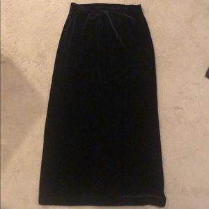 Black Velvet Maxi Skirt